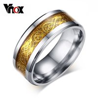 Wholesale Gold Silver Plated Dragon Men s Ring High Polished Stainless Steel Ring For Men High Quality Men s Jewelry