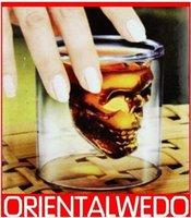 Wholesale Doomed Crystal Skull Shot Glass Crystal Skull Head Vodka Shot Wine Glass Novelty Cup