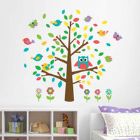 bedroom decorating photos - People favorite mascot owl picture frame photo wall stickers decorate the sitting room kids bedroom wall stickers