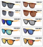 Wholesale DHL Wholeslae bamboo sunglasses men gather models hot sale wood glasses vintage style oculos
