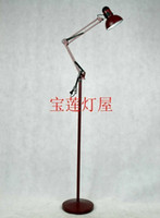 Wholesale Otlan mt rustic fashion brief fashion coffee table work floor lamp maroon
