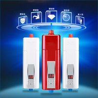 Wholesale Red white Kitchen Tankless Electric Water Heater v W small instant electric Shower bath water Heater J14615