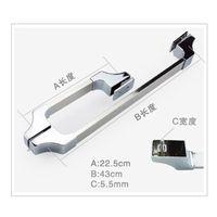 bathroom door knobs - Fashion Popular European Stainless Steel Metal Glass Door Bathroom Shower Room Handles Knobs Bolt Handle HW039
