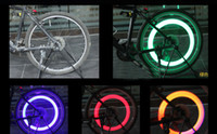 Cheap 100pc Bike Bicycle LED Lights Motorcycle Electric car Wheels Spokes Lamp Silicone 4 colors flash alarm light cycle accessories Free Shipping