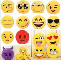 Wholesale 50pcs Hot Cute Emoji Pillows Poop Soft Smiley Emotion Ikea Sofa Cushion Stuffed Plush Toy Doll Gift For Girl EMS
