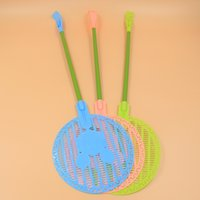 Wholesale ZG3217 large round head with dual gripper Mickey summer creative plastic mosquito swatter racket
