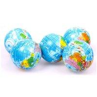 foam balls - World Atlas Geography Map Earth Globe Stress Relief Bouncy Foam Ball Kids Toy