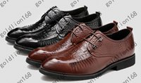 alligator shoes - new Leather shoes men s business suits shoes New England alligator shoes men s shoes with pointed shoes quality goods