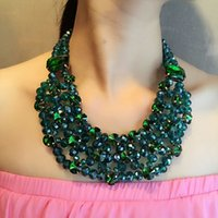 Wholesale YAL Jewelry Statement Necklaces Colorful Crystal Beads Choker Big Necklace Bohemian Summer Women Dress Charms Fashion Jewelry