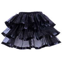 Wholesale Sexy Women Stage - Gothic Sexy Woman Rave Party Costume Cosplay Skirt Organza Net Ballet Stage Performance Dance Corset Suits Tutu Skirt Petticoat
