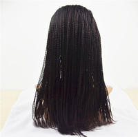 Wholesale top quality hot beauty good selling density indian human hair fully hand micro braided lace front wigs