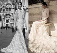 western dresses - 2015 Wedding Dresses Vintage inbal dror Wedding Gowns Plus Size Custom Made Bridal Gowns Long Sleeve China Western Lace Corset Country