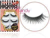 Wholesale W faux eyelashes hand made false strip eyelashes pair per box