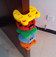 Wholesale Free DHL Child kids Baby Animal Cartoon Door Jammers Stop stopper holder lock Safety guard Finger Protect