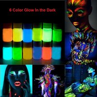 acrylic glow paint - Glow in the dark Face body Paint g for bottle Colors lumious Acrylic Paints Art for Party halloween Make Up