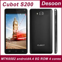 "In Stock Originale CUBOT S200 5.0"" HD IPS MTK6582 Quad Core Android 4.4.2 3G Telefono 1280X720 13MP 1GB di RAM 8GB di ROM WCDMA/Koccis"