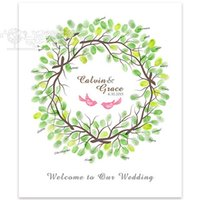 Wholesale 2015 wedding supplies x61cm quot Collar quot exclusive classic wedding finger sign in tree creative sign in married sign in custom