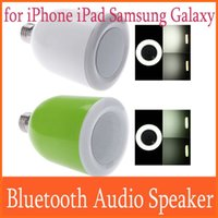 Wholesale With RF Remote Control Wireless Bluetooth Audio Speaker for iPhone iPad Samsung Galaxy in1 Adjustable E27 LED Bulb Light