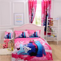 Wholesale Frozen Bedding set Hot selling D printed Cotton Children Bed Linen for Girls Boys Kids Single Bed children gifts