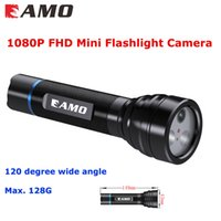 Wholesale 2016 new Arrival FL4202 P FHD Mini Flashlight video camera IP68 Waterproof SD Card Slot for video recording and night illuminating