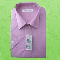 Wholesale Bamboo fiber men s short sleeve shirt high quality factory direct sales