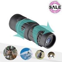 Cheap 16X52 Telescopio Monocular Telescope Dual Focus Zoom 66 1000M Field Travel Pocket Mini Sport  Birding Hunting Telescoop A5