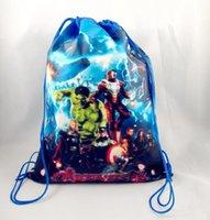 Wholesale 2015 NEW Avengers Iron Man Alltronic cartoon non woven shopping bag drawstring pouch