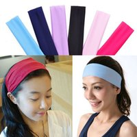 Wholesale DHL Shipping Women Lady Yoga Polyester Elastic Hairband Headband Sport Soft Fashion Hair Band Bandanas