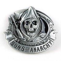 Wholesale SENMI Sons of Anarchy SAMCRO Embossed Metal Bike Skull BELT BUCKLE harley