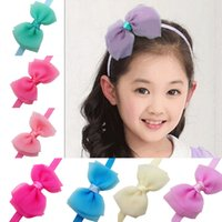baby seersucker - 2015 Korean seersucker Material headband baby girls headbands hair bows tie style Children s hair accessories kids Christmas Gifts