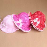 baby boy bucket hat - Girls Baby Bow knot Bucket Hat Polka Dots Sun Hat Cotton Hats M Y