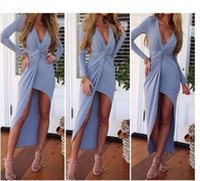 Wholesale Europe and America women s sexy fashion slim long sleeve dress