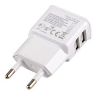 Wholesale 2 A A Dual Port USB Wall Adapter Charger EU US Plug For Samsung S7 S6 S5 S4 iPhone S