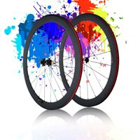 Wholesale New K Full Carbon Matt C Road Bike Bicycle Wheelsets mm Clincher Rim Spokes Hub Quick Release Lever Skewers Brake Pads