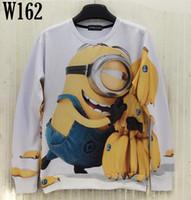 banana animations - L0101 Mikeal Fashion desgined sweatshirt for men women d hoodies cute printed Animation holding banana cartoon hoody men W162