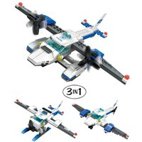 airplane education - Police Airplane building blocks Aircraft Bricks education toy gift coast guard model bricks toys