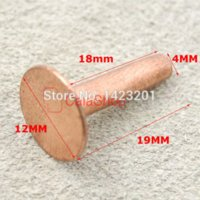 horse tack - 100 mm Solid Copper Rivets amp Burrs Permanent Fasteners Gauge Horse Tack F227C18