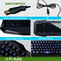 backlit keyboard kit - Wired Blue Backlit DPI Gaming Keyboard amp Mouse Combos Kits Optical AULA For WCG Game Laptop Computer PC