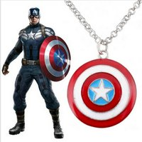Wholesale 2014 Anime Captain America England girl necklace children Necklace for grils and boys