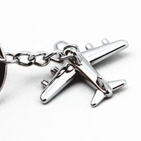 antique model planes - Zinc Alloy Plane Keychain Aircraft Model Key Ring Key Holder Christmas Gift Bag Decoration Birthday Present Fashion Jewelry