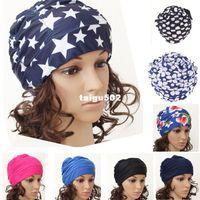 Wholesale retail Colors Fashion Ladies Womens Swimming Hat Swim Bathing Cap Turban Elasticated