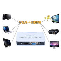 hdmi dvd player - 2015new P Audio VGA to HDMI HD HDTV Video Converter Box Adapter for PC Laptop DVD