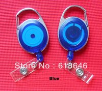 Wholesale New Blue Badge Reel ID Badge Retractable Reel Lanyard Belt Clip Plastic Strap