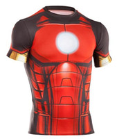 Wholesale Hot sales Athletic Fitness fast drying Man Armour Superman Batman Alter Ego Sports Short Sleeves shirts Galaxy T Shirts