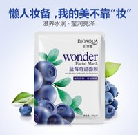 Wholesale 20pcs Blueberry Miracle Silk Mask Moisturizing Oil control Facial Mask Acne Treatment Face Mask for Health Skin Care