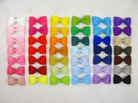 dot ribbon - 200pcs color Children girl baby quot Boutique Hair Bows Alligator Clips Grosgrain Ribbon Hair Accessories Y