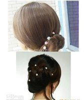 Wholesale Fashion Pearl Hair Pins Crystal Hair Jewellery Wedding Bridal Jewelry Hair Accessories free ship