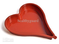 heart shape pan - Big size Love heart shaped Silicone Cake Pan Mould chocolate juice cake pie pizza mold candy Jelly silicone mold baking tools
