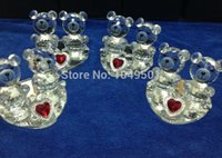 Wholesale wedding gift Lovely bear Crystal furnishing articles home decoration arts and crafts Valentine s day romantic birthday gift