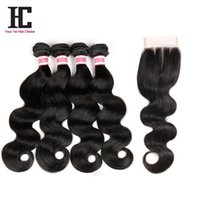 cheap brazilian hair - Brazilian Body Wave With Closure A Unprocessed Human Hair with closure Cheap Brazilian Virgin Hair With Lace Closure Body Wave
